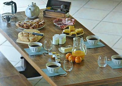 Table d'hôtes petit dejeuner
